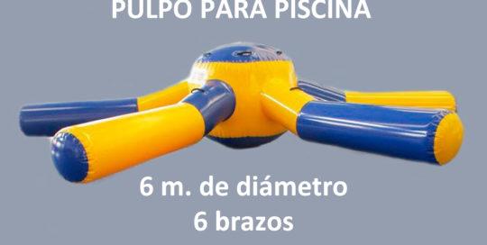 PULPO 6 BRAZOA , 6M DIAMETRO