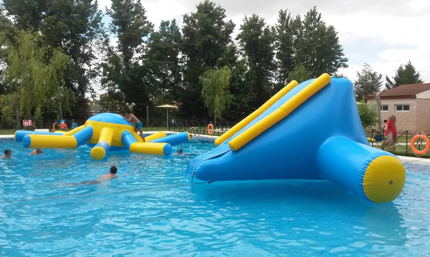 Flotadores hinchables acuáticos