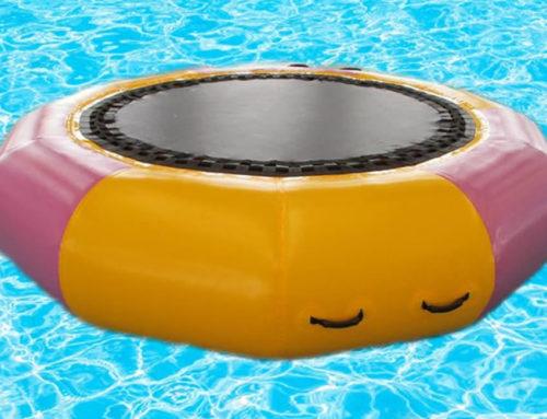 Cama elástica hinchable redonda para piscina