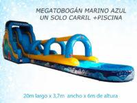 MEGATOBOGÁN MARINO AZUL CON PISCINA - ATRACCIONES MARIAPARK
