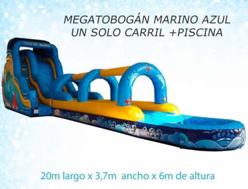 Megatobogán Marino un solo carril + piscina