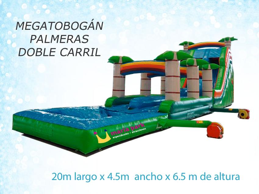 Megatobogán palmeras dos carriles con piscina - atracciones MARIAPARK