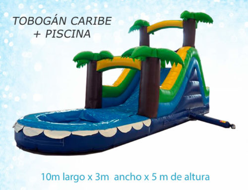 Tobogán Caribe + piscina
