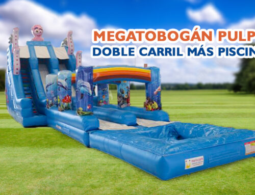 Megatobogán Pulpo doble carril + piscina